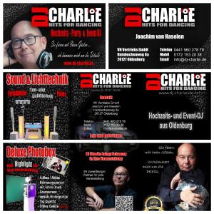 Neue Flyer und Visitenkarten - Update bei DJ Charlie