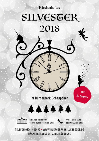 Silvesterparty mit DJ Charlie im Bürgerpark Schäppchen Lübbecke